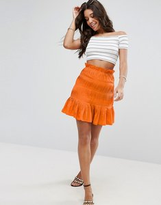 Read more about Asos shirred mini skirt - orange