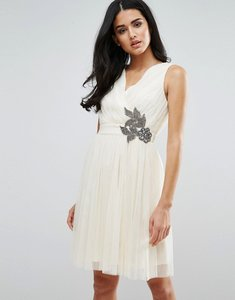 Read more about Little mistress embellished prom dress - cream