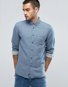 Read more about Penfield ridley neppy shirt buttondown flannel regular fit in blue - blue