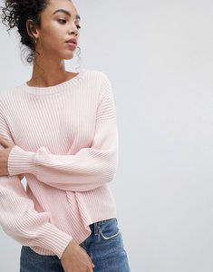 Read more about Noisy may knitted jumper - pink
