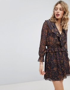 Read more about Maison scotch ruffle detail dress with elasticated waist - combo d