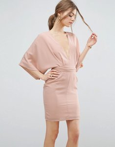 Read more about Asos 70 s belted mini dress - nude