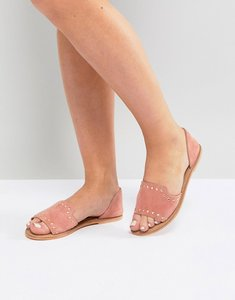 Read more about Asos jovena leather summer shoes - apricot suede