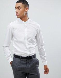 Read more about Calvin klein extra slim stretch shirt grandad collar white - white