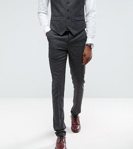 Read more about Harry brown tall skinny fit grey nep suit trousers - grey