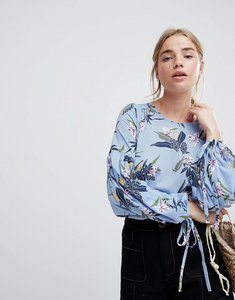 Read more about Qed london floral blouse - blue