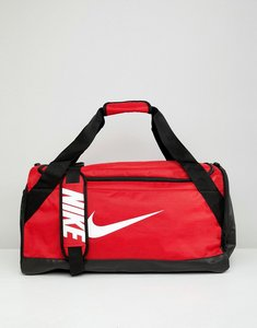 Read more about Nike red swoosh logo duffle bag - red