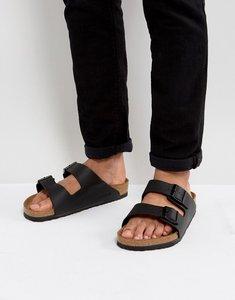 Read more about Birkenstock arizona sandals in black - black