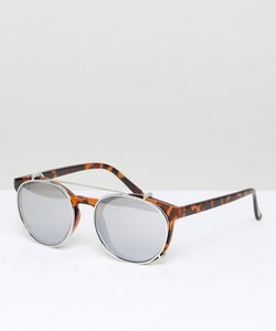 Read more about Mango mirrored lens tortoise sunglasses - multi