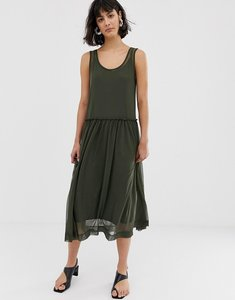 Read more about Selected printed mesh midi dress - green