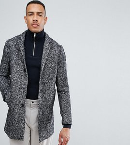 Read more about Selected homme tall salt n pepper notch overcoat in wool mix - salt and pepper