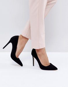 Read more about Faith chloe pointed court shoes - black