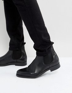 Read more about Selected homme oliver leather chelsea boots in black - black
