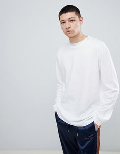 Read more about Mennace oversized long sleeve t-shirt in white - white