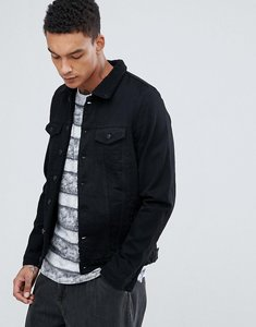 Read more about Just junkies borg lined denim jacket - black