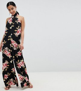 5e1bab7e38b Read more about Asos design petite cross front jumpsuit with wide leg in  floral print -