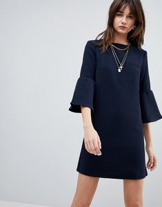 Read more about Cubic diana trumpet sleeve shift dress - navy