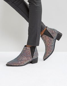 Read more about Asos admission pointed ankle boots - glitter