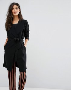 Read more about Pieces drape wrap cardigan - black