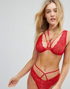 Read more about New look strappy high apex bra - bright red