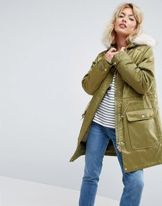 Read more about Parka london kay 3 in 1 parka bomber jacket - fern green