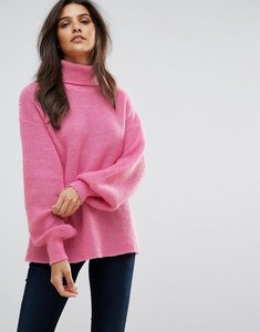 Read more about Vero moda knitted roll neck jumper - pink