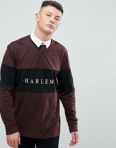 Read more about New look harlem rugby polo in burgundy - dark burgundy