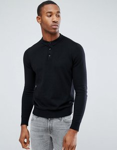 Read more about Jack jones premium knitted polo - black