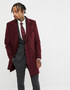Read more about Gianni feraud premium wool blend oversized capone overcoat - red