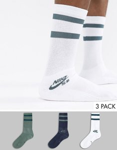 Read more about Nike sb 3 pack crew socks in multi sx5760-901 - multi
