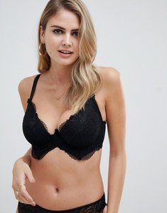 b48f50704d8db Read more about Asos design fuller bust kate lace longline moulded underwire  bra - black