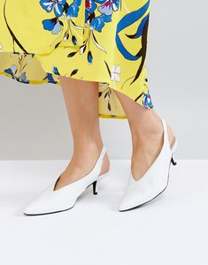 Read more about Gestuz white leather sling back shoe - white