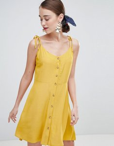 Read more about New look button through strappy sundress - yellow