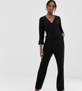 Read more about Y a s tall plunge wide neck jumpsuit