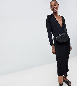 Read more about Asos white button detail knit dress - black