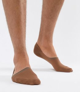 Read more about Asos design invisible liner socks in medium skintone - tan
