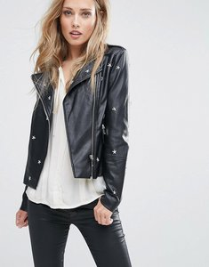 Read more about Supertrash jars star pu leather jacket - black