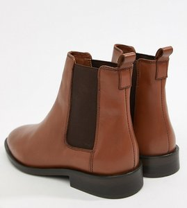 Read more about Asos design aura leather chelsea ankle boots - tan leather