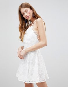 Read more about Glamorous skater dress - white