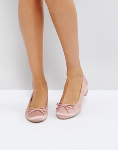 Read more about Call it spring desarro satin ballerina shoes - pink