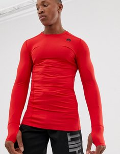 Read more about Hiit muscle fit long sleeve tshirt in red