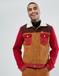 Read more about Wrangler peter max western sherpa jacket colourblock cord - brown