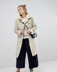 Read more about Moon river borg lined duffle coat - creme