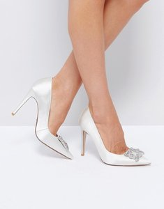 Read more about Dune london bridal breanna embellished shoes - ivory