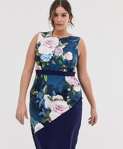 Read more about Paper dolls plus midi pencil dress in floral print