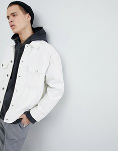 Read more about Mennace denim jacket in white - white