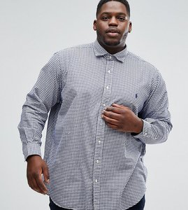 Read more about Polo ralph lauren plus oxford shirt in navy gingham - navy white