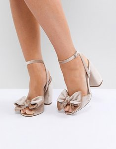 Read more about Asos hampton heeled sandals - nude velvet