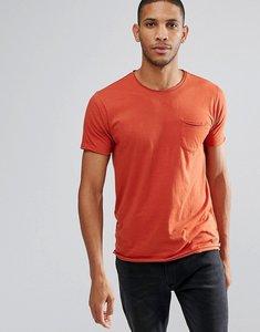 Read more about Brave soul basic raw edge t-shirt - orange