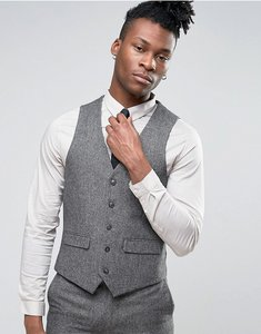 Read more about Harry brown slim fit donegal wool blend waistcoat - grey